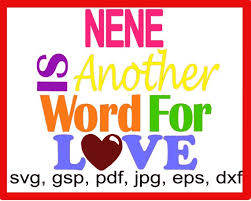 Another Word For Violet Nene Is Another Word For Love Die Craft Machines N Iron Ons Etsy