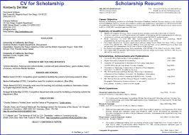 Scholarship Resume Format Amazing How To Write Impressive CV For Scholarship