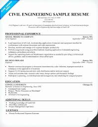 Resume Of Fresher Civil Engineer Sample Resume For Experienced