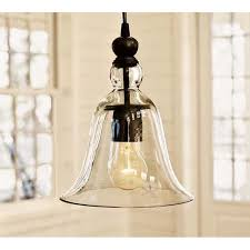 winsoon 1 light vintage hanging big bell glass shade ceiling lamp pendent fixture