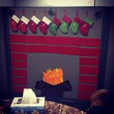 office ideas for christmas. office christmas decor for a cubicle i like the idea of fireplace with stockings each us in department marlo suggested possibility ideas r