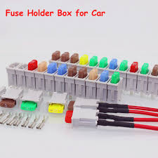 automotive fuse block terminals promotion shop for promotional 12 way small size fuse holder box for car ato blade block holder 12pcs fuse blade and terminals