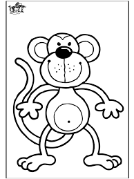Monkey Coloring Pages Monkey Coloring Page 8 Free Printable