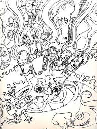 Small Picture Psychedelic coloring pages for adults Free Printable Psychedelic