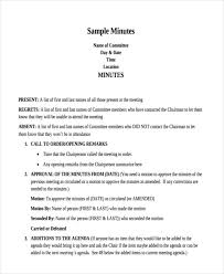 Meeting Minutes Format Sample Free 10 Minutes Writing Examples Samples In Pdf Doc