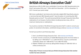 50 Rbc Avion To Avios Bonus What Are The Best Sweet Spots