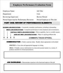 Simple Employee Review 9 Best Employee Evaluation Form Images In 2019 Employee