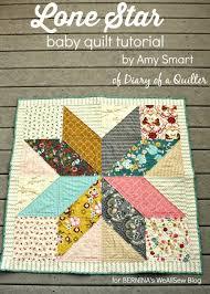 Easy DIY modern Star Baby quilt tutorial & Lone Star quilt tutorial by Amy Smart Adamdwight.com