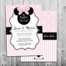 baby shower invitations outstanding diy minnie mouse baby shower invitations ideas which you need to