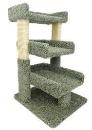 amazoncom  new cat condos premier triple cat perch beige  pet