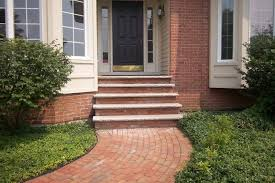 front door brick step designs rh door knob blo com front porch brick step on diy
