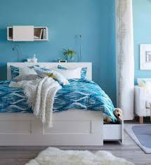 Teal Colored Bedrooms Blue Bedroom Perfect Light Blue Wall And White Furniture In