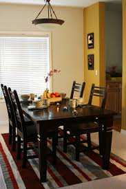 Fancy Small Dining Room Decorating Design Ideas : Classy Small Dining Room  Decoration With Rectangular Black