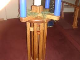advent wreath candle holder and table