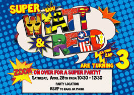 superheroes birthday party invitations joint superhero birthday party invitation digital by rkrcreations