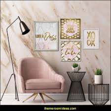 rose gold and black wall art