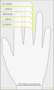 X Large Size Chart Size Chart Bob Dale Gloves Bdg North American Hand