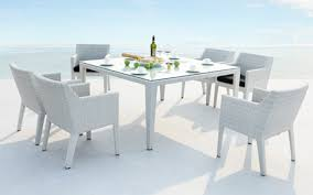 white outdoor furniture. Furniture In White Would Look Fantastic Your Conservatory, Poolside Or Just Garden. All Our Cushions Use Quick Dry Marine Foam For Permanent Outdoor G