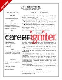 Construction Resume Sample Career Igniter