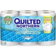 Quilted Northern Toilet Paper - Walmart.com & Quilted Northern Ultra Soft & Strong Toilet Paper, 12 Double Rolls, Bath  Tissue Adamdwight.com