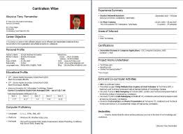 Resume Format For Fresher 66 Images Resumes For Freshers 5 Hr