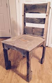 wooden pallet dining chair