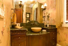 Old World Bathroom Decor Old World Powder Room Oberholtzer Custom Cabinetry