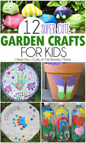 12 cute garden crafts to help get the kids involved these include some easy art tutorials while other ones will need some help for the finished