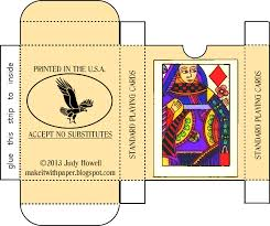 Printable Playing Card Make It With Paper Free Printable Craft Playing Card Box