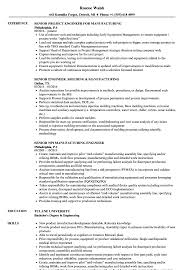 Manufacturing Resume Samples Manufacturing Senior Engineer Resume Samples Velvet Jobs 19