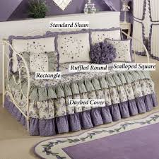 white and purple daybed comforter sets with ruffled skirt for daybed bedding ideas