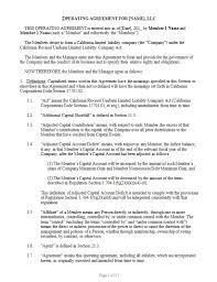 template for llc operating agreement llc operating agreement template california llc operating agreement