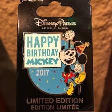 Surprise Mickey Mouse birthday pin ...