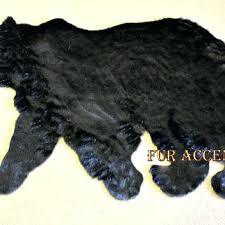 plush bear rug plush soft faux fur fabric black bear skin rug fake bearskin teddy bear