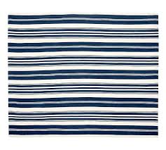 recycled plastic outdoor rugs canada rug pottery barn oxford stripe yarn indoor blue o