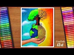 Australian Open Draw Chart How To Draw Save Trees Save Earth Poster Chart Drawing For