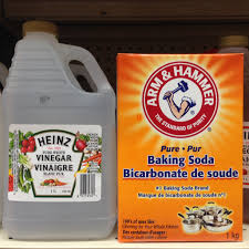 Baking soda and vinegar have many uses. A drain cleaner, oven cleaner, metal