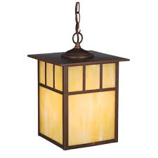 block shaped paper shade yellow craftsman style pendant lighting wooden material large chain ring hanging