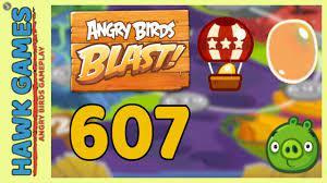 Angry Birds Blast Level 607 - 3 Stars Walkthrough, No Boosters - YouTube
