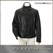 emporio armani emporio armani fake leather 合皮 blouson black size 48 men s used apparel
