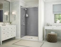 maax utile metro 32 x 80 7 8 ash gray shower
