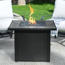Uniflame 32 In Square Propane Gas Outdoor Fire Pit