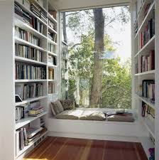 Small Reading Nook Home Library With Lounge By Window