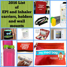 2016 list of epi pen carriers holders and wall mounts