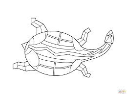 Small Picture Aboriginal Painting of Turtle coloring page Free Printable