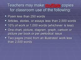 copyright and fair use guidelines for teachers copyright basics  6 teachers