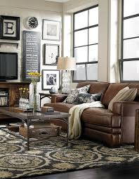 leather furniture living room ideas. Love This Room. Brown Leather, Rustic Wood, Black And White Frames,  Distressed Light Brick. Leather Furniture Living Room Ideas 2