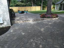 urbana stone paver patio in slate grey lakewood tx