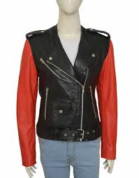 Baldwin Denim Size Chart Collarless Red And Black Hailey Baldwin Leather Jacket Ujackets
