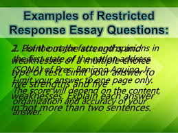 types of essay items 8 1